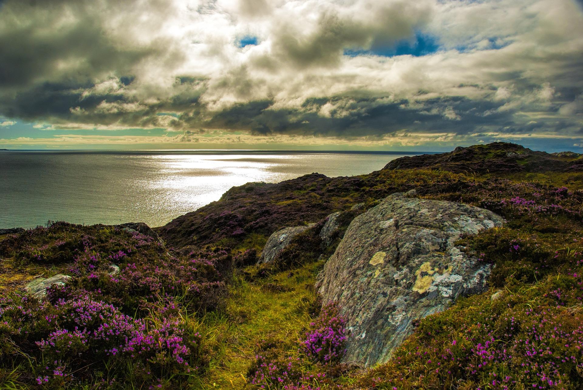 Lochinver coast in Scotland