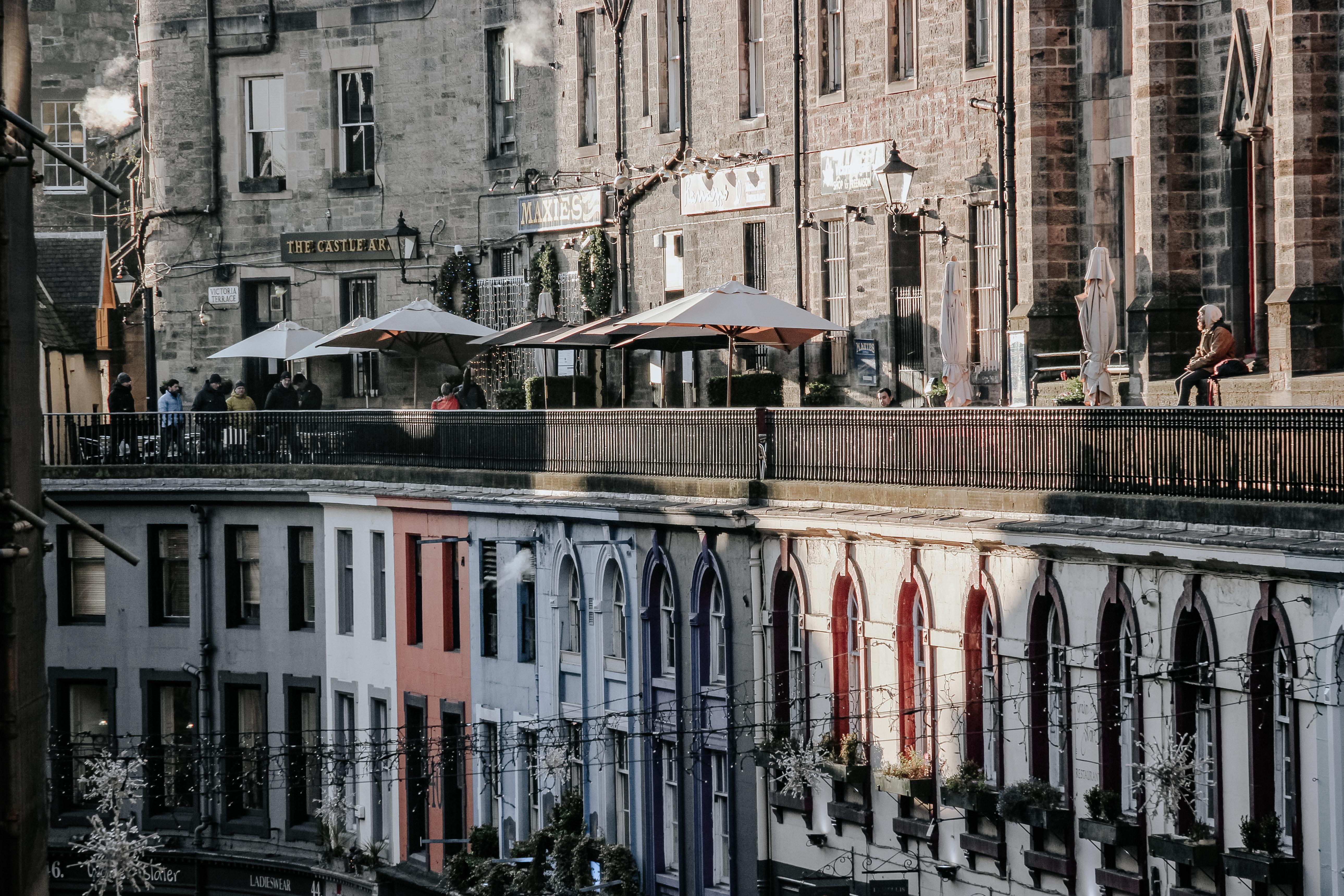 Balcony street in Edinburgh